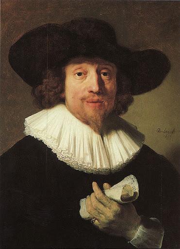Heinrich Schütz, by Rembrandt