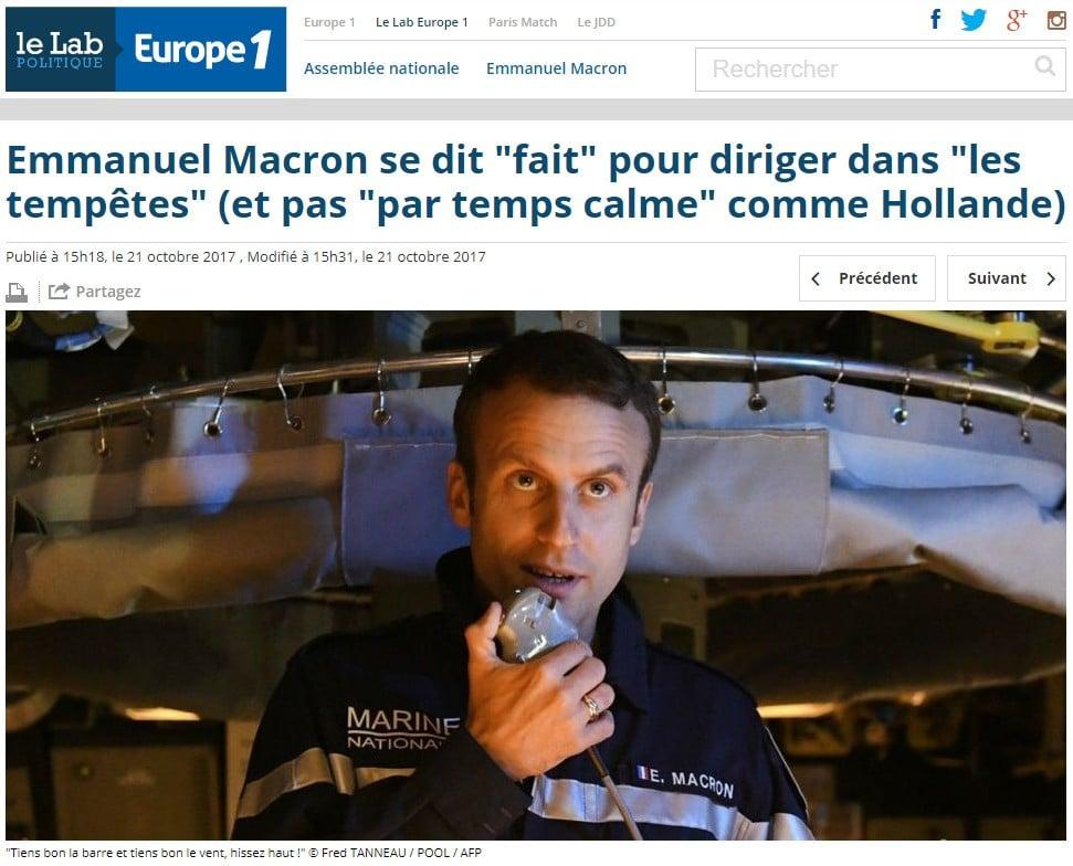 Macron - Europe1 - Hollande - Gilets jaunes