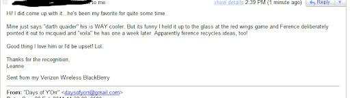 Darth Quaider email 2