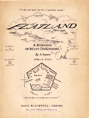 title page of Flatland by Edwin Abbott published in 1884