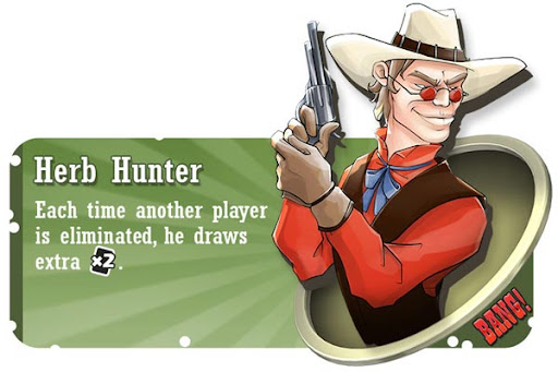 Herb Hunter BANG! card game character
