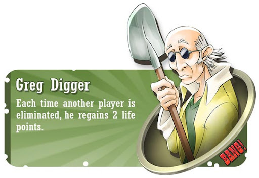 Greg Digger BANG! card game character