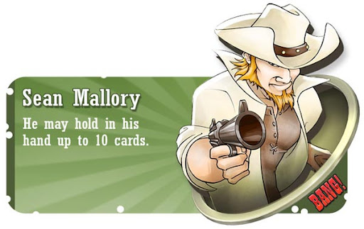 Sean Mallory BANG! card game character
