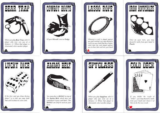 Robbers' Roost BANG! Accessory Cards