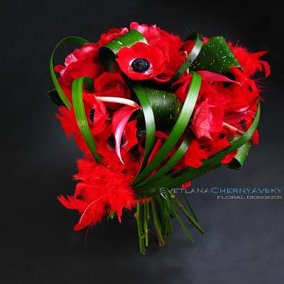 букет-сердце на 14 февраля