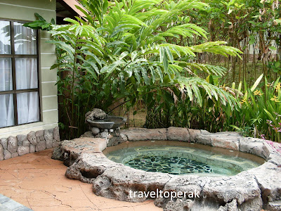 In-house hot Jacuzzi tub