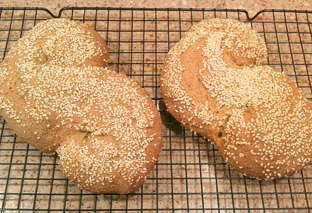 Pane Siciliano or Sicilian Bread Sprinkled with Sesame Seed Recipe