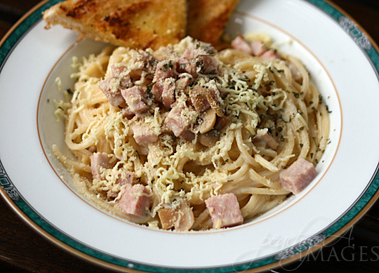 Spam Carbonara and Grilled Cheese Sandwich