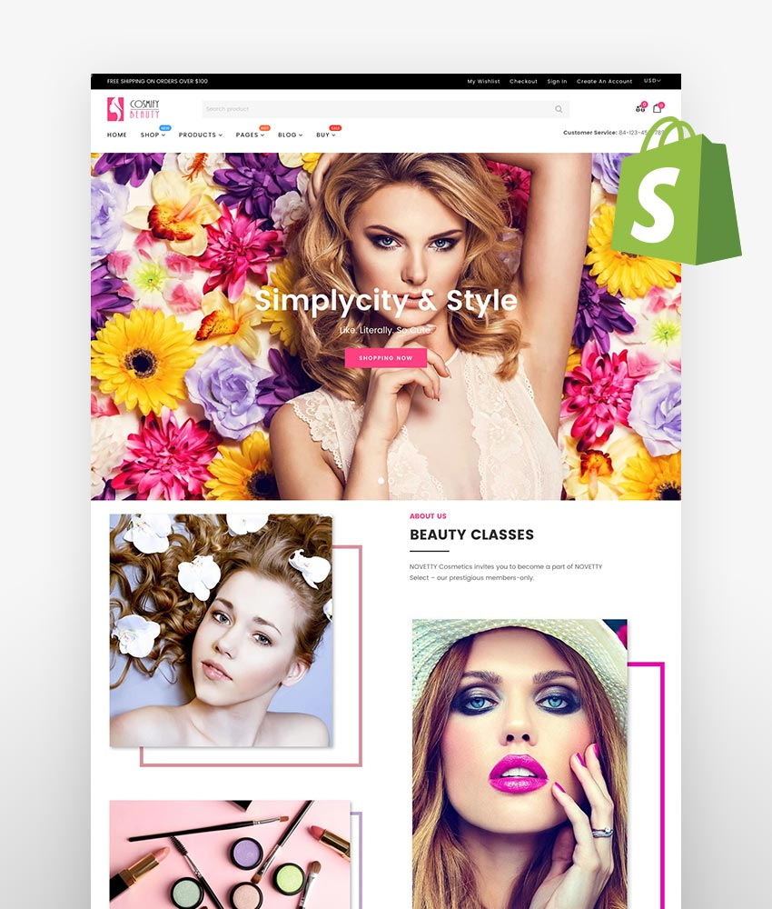 Shopify skin care themes Cosmify