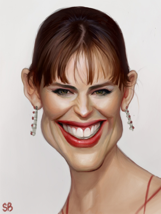 Jennifer Garner caricature