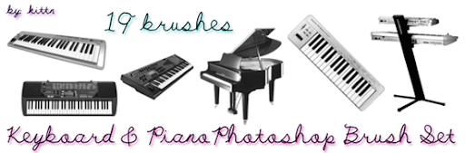19 pincéis teclados