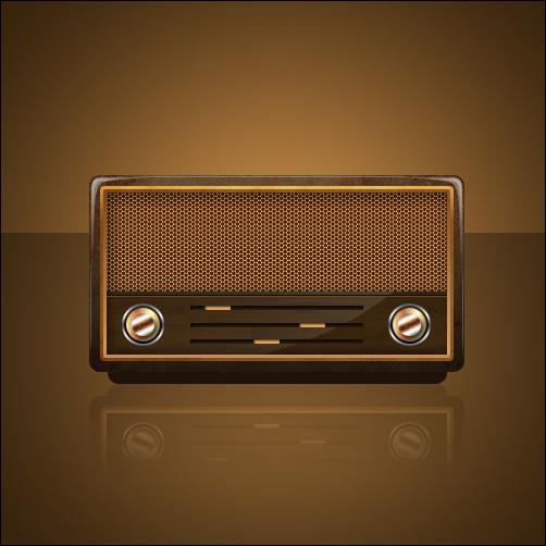 Tutorial desenhar rádio antigo