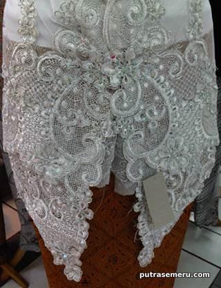 kebaya tile putih modern pengantin ajilbab com portal