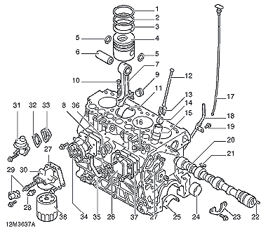Diesel Engine Overhaul Repair on toyota camry piston diagram