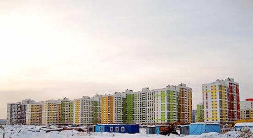 После заседания мы посетили один из новых микрорайонов, построенных в этом городе, который получил название Академический