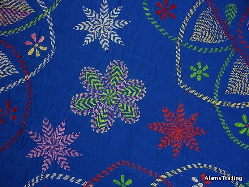 Examples of kantha embroidery for ducks