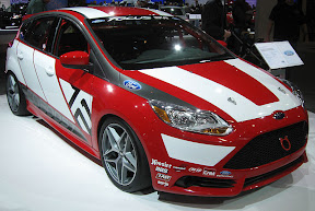 Ford Focus ST at an auto show
