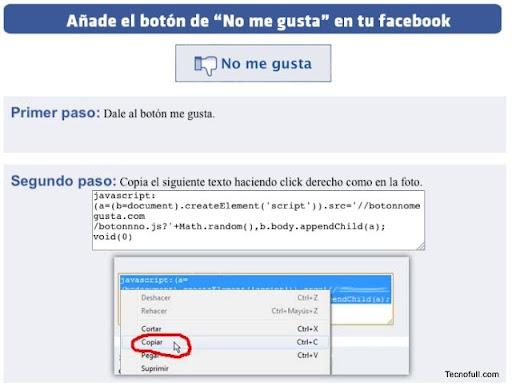 Bonon no me gusta de facebook