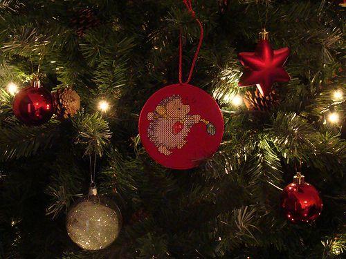1º enfeite de natal =)