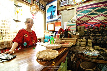 The Store Owner Manning the Counter at Coron Gift Shop