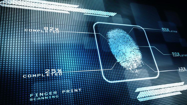 biometric fingerprint screen