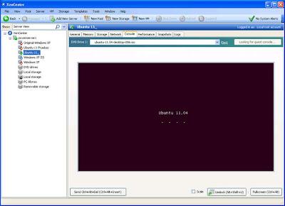 Crear nueva máquina virtual con Ubuntu 11.04 en XenServer desde el cliente XenCenter en un equipo con Windows 7