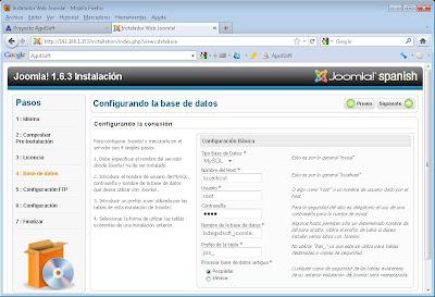 Descargar e instalar Joomla! 1.6.3 en servidor web Apache, PHP y MySQL con Linux Debian 6