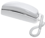 white trimline phone