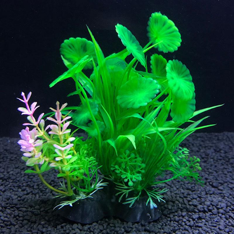 Water Weeds Artificial Plastic Bonsai Tree Fish Tank Decoration Marine Aquarium Ebay