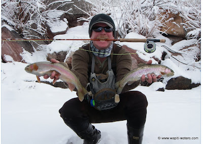 Winter in Colorado – Billy is still fishing
