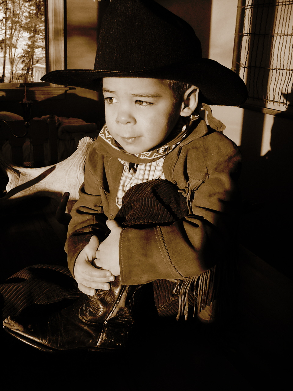 our little cowboy...