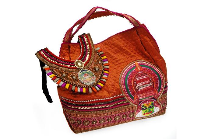 Orange Handbag and Neckpiece