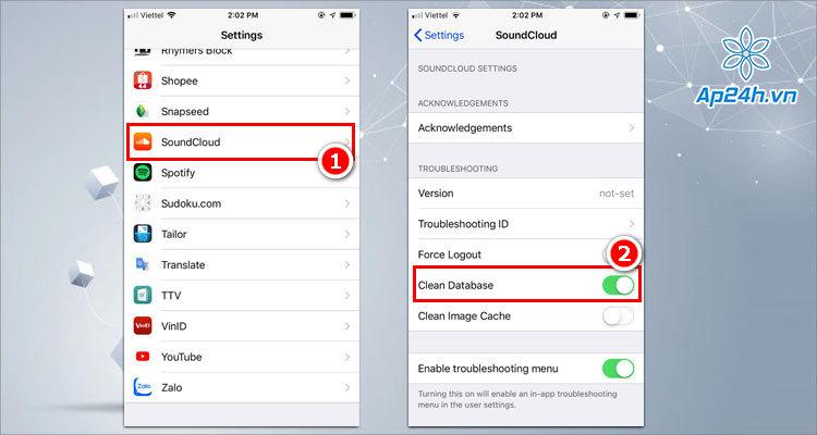 Dọn dẹp dữ liệu ứng dụng trên iPhone