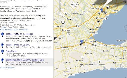 UploadMap - Problems near Toronto? - YouTube Help