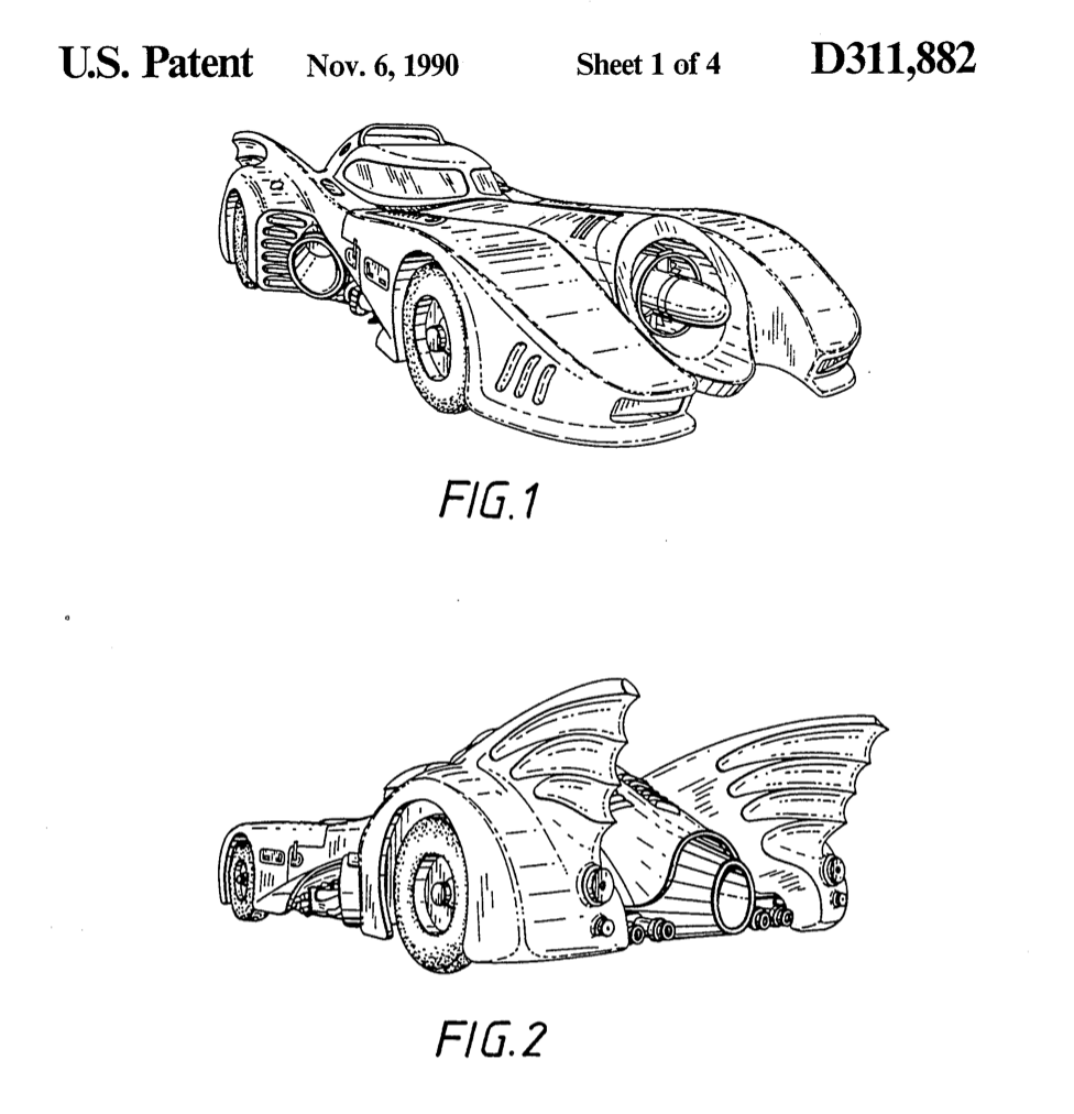 Patent D311882 Bat Mobile - Intellectual Property related costs
