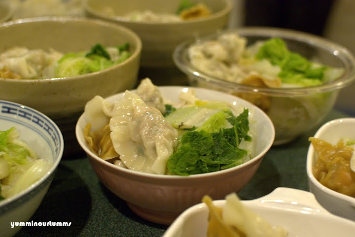 Noodles with Dumpling Gao Ji wantan Wonton soup chinese cabbage