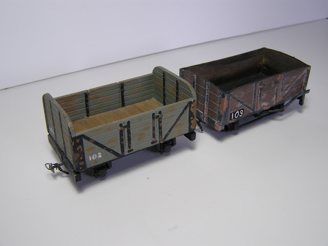 Two open wagons
