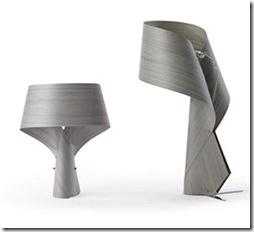lampe à poser Air en gris