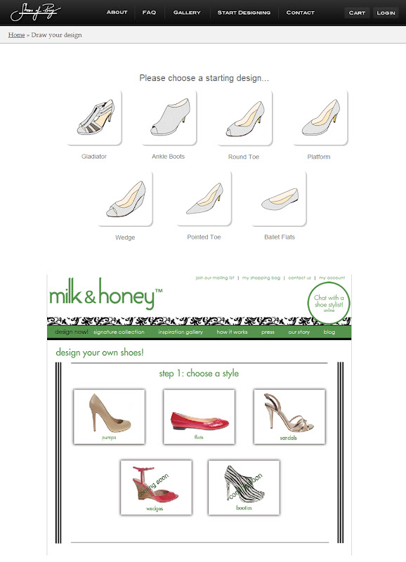 22 Michaels: Milk and Honey Shoes Copied our Online Shoe Designer