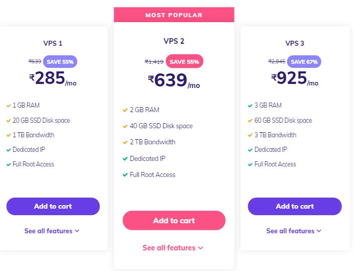 Hostinger VPS Web Hosting Pricing & Plans