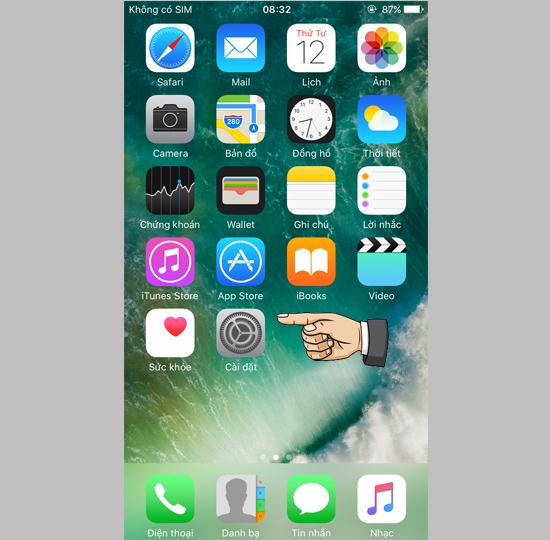 Cài đặt đăng nhập vào iPhone