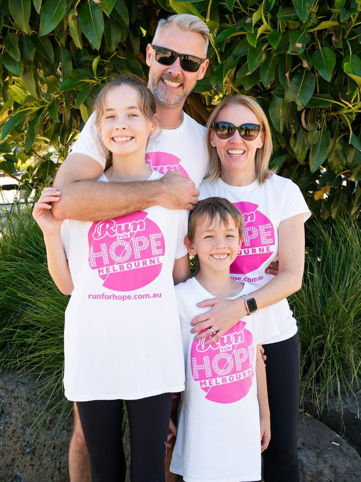 Sarah Powell and her family