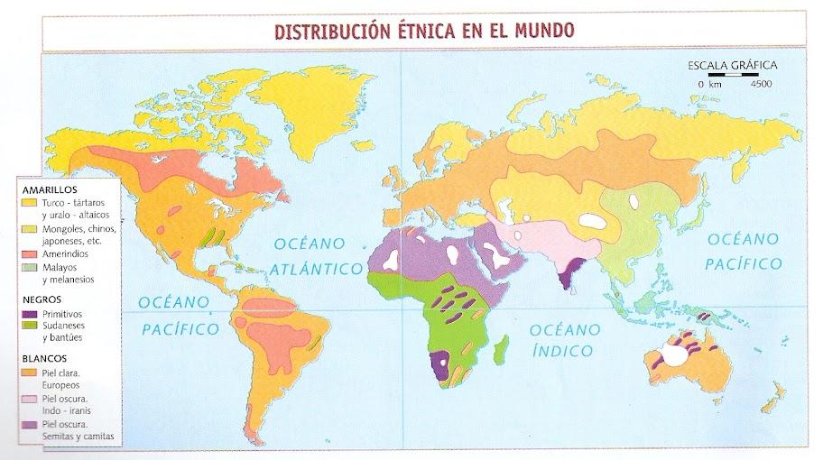 MAPA DE RAZAS EN EL MUNDO