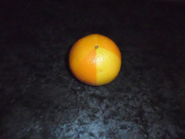 spray tanned orange