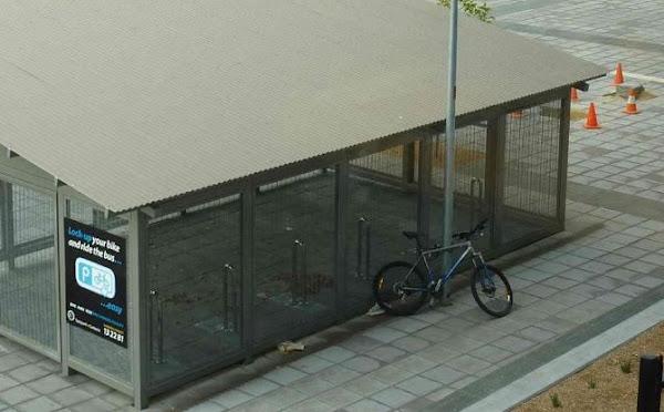 bike cage with bike