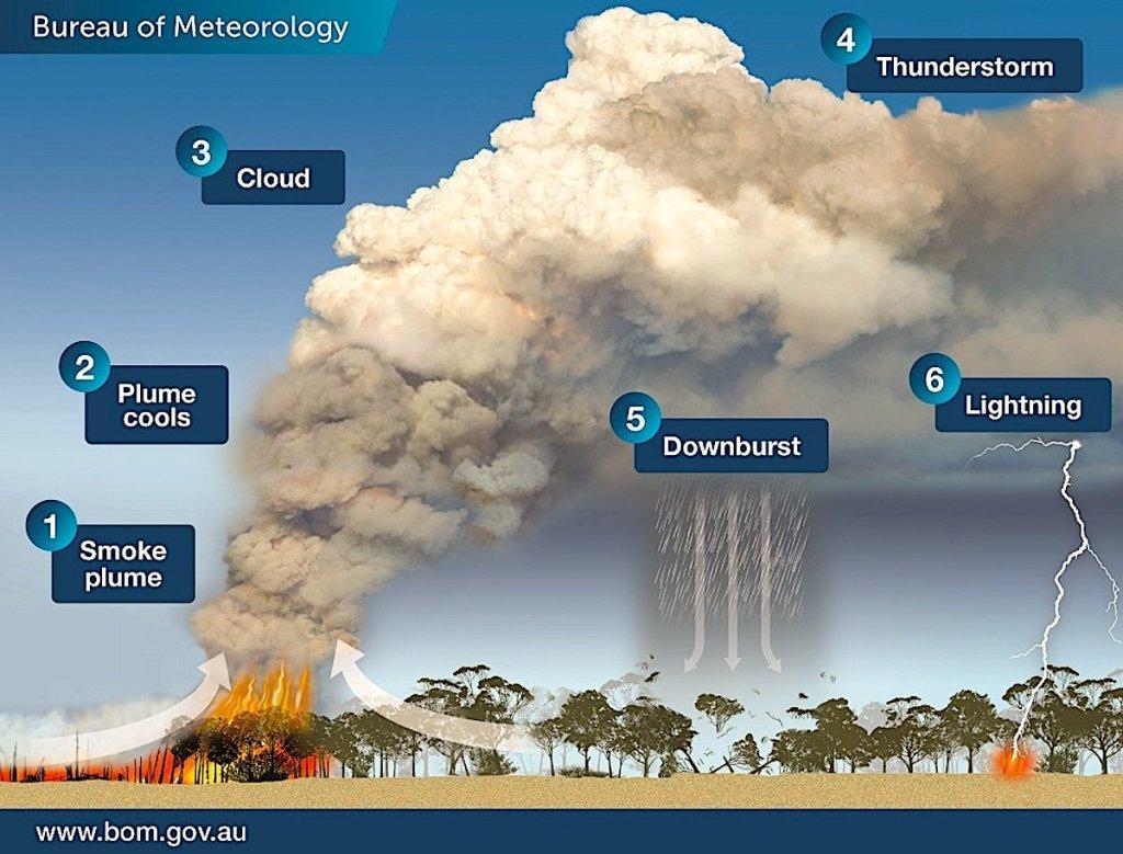 Gli incendi sono alla base della formazione dei piro-cumulonembi
