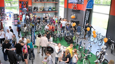 Viele Besucher kamen mit dem Rad, erste Anlaufstelle war da natürlich Jürgens Bike Shop