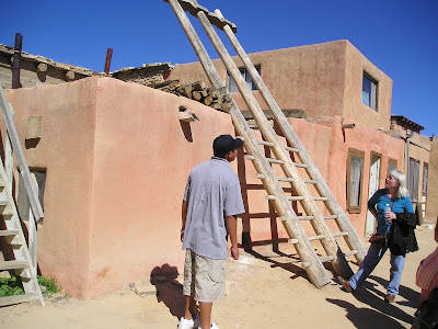 Acoma Kiva double ladder
