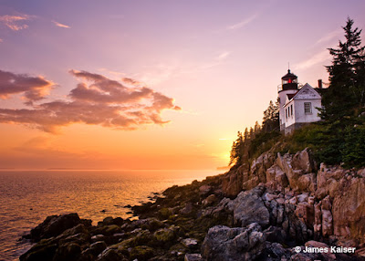 Sunset at Bass Harbor Lighthouse, Bass Harbor, Maine. James Kaiser