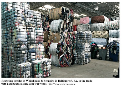 recycling textiles at Whitehouse and Schapiro in Baltimore/ USA, in trade with used Textiles over 100 years